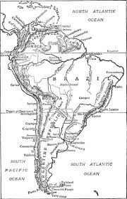 Equator Map South America by South America W H Koebel