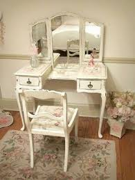 Shabby Chic Vanity Table by Xl White Chic Wooden Dressing Table Set Vanity Makeup Desk With
