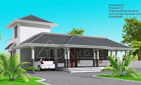 stylish kerala home design at 1860 sq ft
