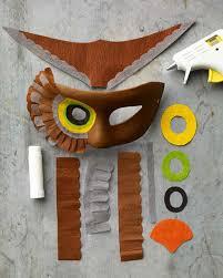 Owl Halloween Mask by Owl Mask Martha Stewart