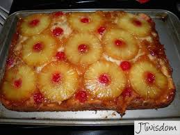 recipe homemade pineapple upside down cake bubbling with