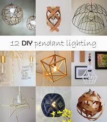 Diy Pendant Lights Diy Monday Pendant Lighting Ohoh