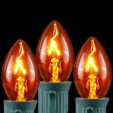 transparent c7 bulbs 25 pack novelty lights inc