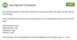 duo splunk connector duo security