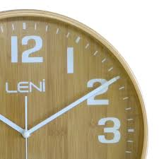 buy leni bamboo wooden wall clock small wallet online purely