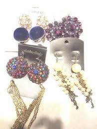 gaudy earrings details about womans chandelier earrings tear drop glass molded