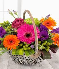 fruits flowers the fruit burst vibrant flower basket same day flower delivery uk