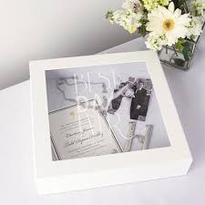 wedding wishes keepsake box personalized best day white wedding wishes keepsake shadow