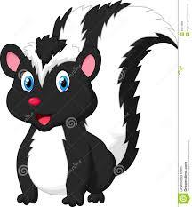 cute skunk cartoon stock vector image 45671866