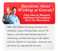 genesis healthcare u003e career opportunities