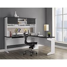 ameriwood home pursuit white l desk with hutch office set free