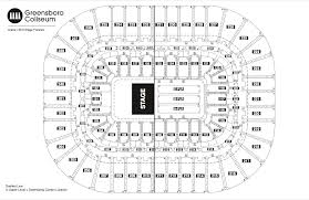 civic center floor plan seating chart see seating charts module greensboro coliseum
