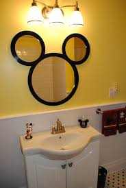 Wall Mirrors For Bathroom by 9 Interesting Mickey Mouse Bathroom Mirror Photo Ideas Spruce Up