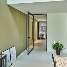 glass door pivot interior door pivoting with offset axis aluminum full height