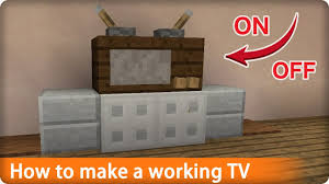 Minecraft How To Make A Furniture by Minecraft How To Make A Working Tv Pe Pc Console Youtube