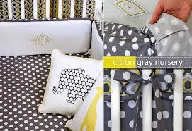 Crib Mattress Sheets Michael Miller Fabrics Citron Gray Nursery Fitted Crib Sheet