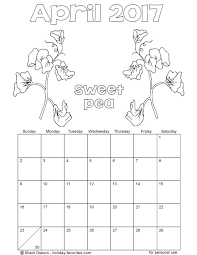 printable april 2017 calendars holiday favorites