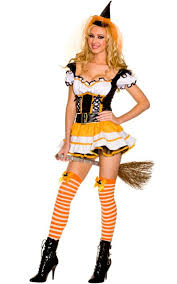 Witch Halloween Costumes Orange Witch Halloween Costume Women U0027s Orange Witch Costume