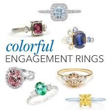 engagement rings stones images Engagement rings with colorful stones brides jpg