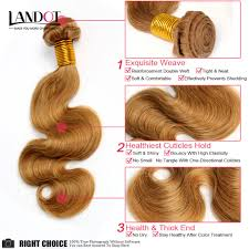 Blonde Weft Hair Extensions by Honey Blonde Brazilian Hair Body Wave 100 Human Hair Weave Wavy