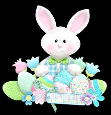 easter cute bunny with eggs png clipart clipart pinterest