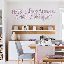 dining room wall decals hot sale home decor wall decals quote here s to love laughter wide