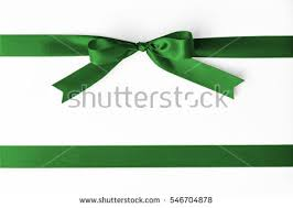 emerald green ribbon green satin bow ribbon emerald stock photo 546704878