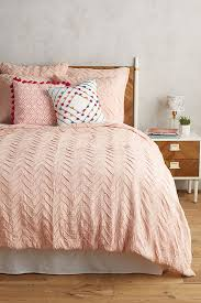 textured chevron duvet cover anthropologie