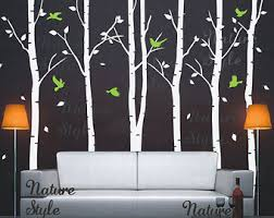 birch tree wall decals nursery wall decal baby decal children