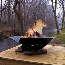 fire pit gallery corten steel origami fire pit 48 in from thos baker outdoors