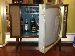 Retro Bar Cabinet Vintage Tv Cocktail Bar Liquor Cabinet Liquor Cabinet