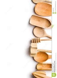 Kitchen Utensils Border Of Wooden Kitchen Utensils Stock Photo Image 29501670