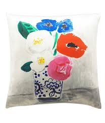 kate spade new york flower vase silk u0026 cotton square feather