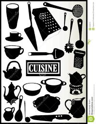 cuisine ustensile assortiment des ustensiles de cuisine illustration de vecteur