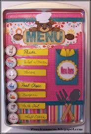 free craft idea magnetic menu board share your craft pinterest