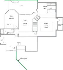 finished basement floor plans outdoor bar plans drawings free bar plans and layouts remarkable