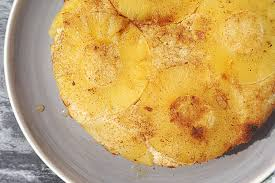 healthy upside down pineapple cake