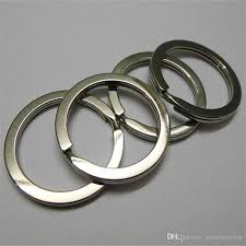 titanium key rings images Outdoor titanium key ring key chain key ring split ring size s jpg
