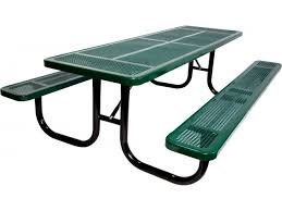 heavy duty round picnic table 6 extra heavy duty perforated picnic table upt 7230 outdoor