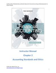 solution manual for financial accounting a global approach 1st