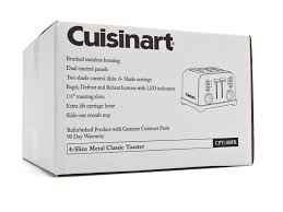 Cuisinart Toaster 4 Slice Cuisinart Metal Classic 4 Slice Toaster Woot