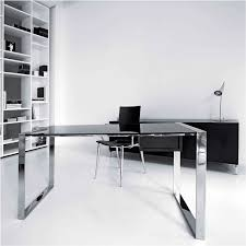 Two Desks In One Office Black And White Contemporary Office Furniture