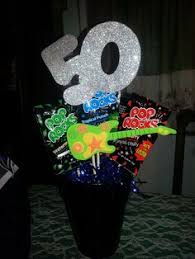 sparkly silver 50th birthday party centerpiece follow us for more