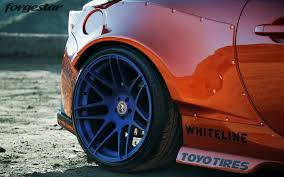 subaru brz custom rocket bunny forgestar 18x9 5 18x11 gloss black f14 wheels for rocket bunny