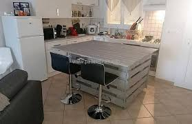 recycled wooden pallets central kitchen island pallet ideas