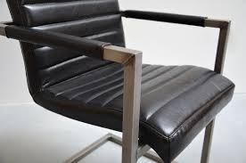Esszimmerstuhl Freischwinger Freischwinger Stuhl Leder Schwarz Möbelideen