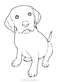 puppy coloring picture free coloring pages on art coloring pages
