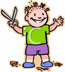 colorful cartoon of a mischievous boy that has given himself a bad