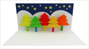 origami pop up christmas tree card video tutorial hd youtube