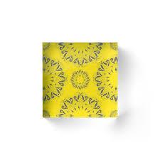 circle lace organic ornament acrylic blocks by krasnoperaolga